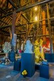 CHIANG RAJA TAJLANDIA, LUTY, - 01, 2018: Niezidentyfikowani ludzie chodzi wśrodku Baandam czerni muzealnego domu, tworzący i Obrazy Stock