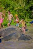 CHIANG RAJA TAJLANDIA, LUTY, - 01, 2018: Piękny plenerowy widok obcokrajowa turysta aktywność doświadczać Fotografia Stock