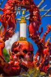 CHIANG RAJA TAJLANDIA, LUTY, - 01, 2018: Wat Rong Khun - zło alkohol Obraz Stock