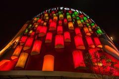 Chiang Raja w północny Tajlandia lampionów zaświecać Obraz Royalty Free