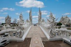 Chiang Raja w północnym Tajlandia Baimiao dzwonił: Długa Kuna świątynia, Linh Quang, Biała smok świątynia lub x28; Wat Rong Khun& zdjęcie royalty free