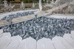 Chiang Raja w północnym Tajlandia Baimiao dzwonił: Długa Kuna świątynia, Linh Quang, Biała smok świątynia lub x28; Wat Rong Khun& zdjęcia stock