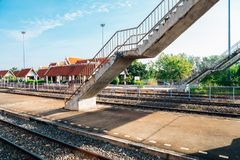 Chiang Rak train Station in Thailand. Chiang Rak Railway Station in Thailand Stock Photos