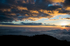 CHIANGDAO山, Chiangmai省,泰国 免版税库存图片