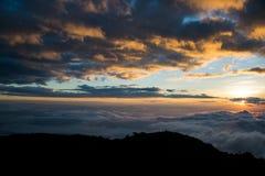 CHIANGDAO berg, Chiangmai-Provincie, Thailand Royalty-vrije Stock Afbeeldingen