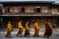 Chiangkhan Loei provice Thailand. Royalty Free Stock Images