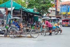 CHIANGMAI,泰国- 2014年6月29日, :Warorot市场,当地calle 免版税库存图片