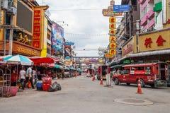 CHIANGMAI,泰国- 2014年6月29日, :Warorot市场,当地calle 免版税图库摄影