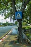 CHIANGMAI,THAILAND-APRIL 30,2019:交通标志chiangmai老城市 图库摄影