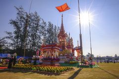 ChiangMai, Ταϊλάνδη - 21 Ιανουαρίου 2018: Ο cremation προηγούμενος πρίγκηπας Phra Khru Sophon Thammunanu τελετής της περιοχής Sar Στοκ Φωτογραφίες