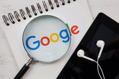 CHIANGMAI, ΤΑΪΛΑΝΔΗ - 16 Οκτωβρίου 2017: Φωτογραφία του λογότυπου Google ο Στοκ Φωτογραφία