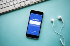 CHIANGMAI, ΤΑΪΛΑΝΔΗ - 26 Αυγούστου 2016: Σημάδι ι εφαρμογής Facebook Στοκ φωτογραφίες με δικαίωμα ελεύθερης χρήσης