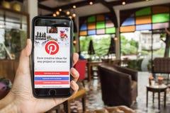 CHIANGMAI, ТАИЛАНД - 4-ОЕ ИЮНЯ 2016: Начальный экран o app перископа Стоковое Фото