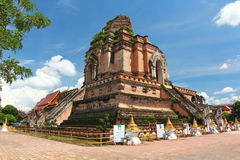Chiangmai Таиланд luang chedi Wat Стоковое Изображение