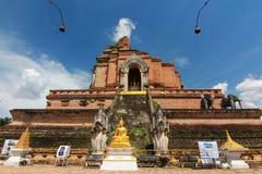 Chiangmai Таиланд luang chedi Wat Стоковая Фотография