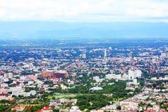 Chiangmai city bird eye view. Chiangmai city, central of north region of thailand Royalty Free Stock Photo