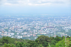 Chiangmai city view from the mountain. Royalty Free Stock Photo