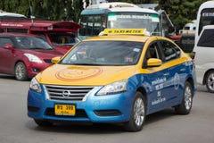 Chiangmai del metro de taxi del gancho agarrador, Nissan Sylphy Foto de archivo