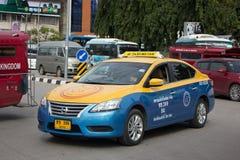 Chiangmai del metro de taxi del gancho agarrador, Nissan Sylphy Fotografía de archivo