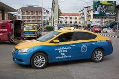 Chiangmai del tester di taxi della gru a benna, Nissan Sylphy Fotografie Stock Libere da Diritti