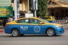 Chiangmai del tester di taxi della gru a benna, Nissan Sylphy Fotografia Stock