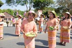 chiangmai festiwalu kwiatu tajlandzcy wieśniacy Fotografia Stock