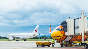 CHIANGMAI - June 13: Nok Air flights for boarding at Chiangmai I Stock Images