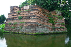 Chiangmai moat and ancient wall ,Thailand Stock Photos