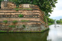 Chiangmai Moat And Ancient Wall ,Thailand Royalty Free Stock Images