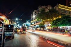 Chiangmai nattbasar royaltyfri bild
