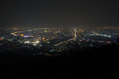 Chiangmai night under mist Stock Image