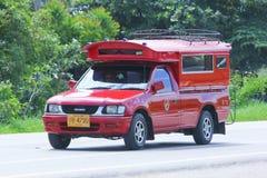 Chiangmai rojo del taxi Imágenes de archivo libres de regalías