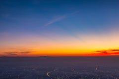 Chiangmai-Stadt unter dem Himmel Stockbilder