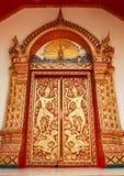 chiangmai szczegółu drzwiowa s świątynia Thailand Obrazy Royalty Free