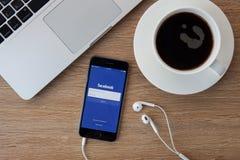 CHIANGMAI, TAILÂNDIA - 5 DE FEVEREIRO DE 2015: Facebook é um s em linha Fotografia de Stock
