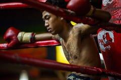 CHIANGMAI TAILÂNDIA 30 DE JULHO: Jogadores não identificados em Muaythai Fotos de Stock