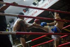 CHIANGMAI TAILÂNDIA 30 DE JULHO: Jogadores não identificados em Muaythai Imagem de Stock Royalty Free
