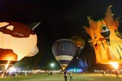 CHIANGMAI, TAILÂNDIA, O 4 DE MARÇO DE 2016: Balão do international de Tailândia Fotografia de Stock