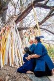 CHIANGMAI, TAILANDIA 15 DE ABRIL: Adoración en el festival de Songkran, A Foto de archivo libre de regalías