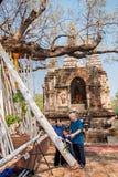 CHIANGMAI, TAILANDIA 15 DE ABRIL: Adoración en el festival de Songkran, A Imagenes de archivo