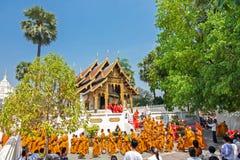 CHIANGMAI, TAILANDIA 15 DE ABRIL: El festival de Songkran es i celebrado Imagen de archivo libre de regalías