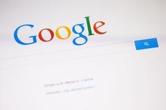 CHIANGMAI, TAILANDIA - 28 DE SEPTIEMBRE DE 2014: Google es un m americano Fotos de archivo libres de regalías