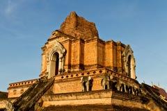 Chiangmai Tailandia del jedeluang del wat de la pagoda Imagenes de archivo