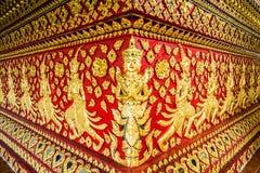 Chiangmai Tailandia del suandok del wat de la escultura del ángel Imágenes de archivo libres de regalías
