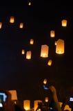 Chiangmai Tailandia della lanterna del cielo Fotografia Stock Libera da Diritti