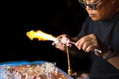 Chiangmai, Tailandia: 24 Septmeber 2017, artesanía hecha a mano franco Imagenes de archivo