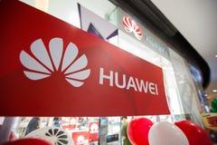 Chiangmai Tajlandia, Czerwiec, - 16, 2017: Huawei symbol Huawei Techno Obraz Stock