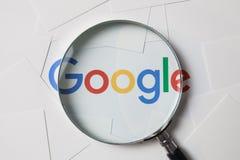 CHIANGMAI TAJLANDIA, Październik, - 8, 2017: Fotografia logo Google dalej Fotografia Royalty Free