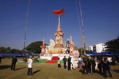 ChiangMai Tajlandia, Styczeń, - 21, 2018: Kremaci ceremonii Phra Khru Sophon Thammunanu poprzedni książe Saraphi okręg, Chi Zdjęcie Royalty Free