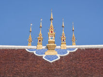 Chiangmai temple gable apex Royalty Free Stock Photo